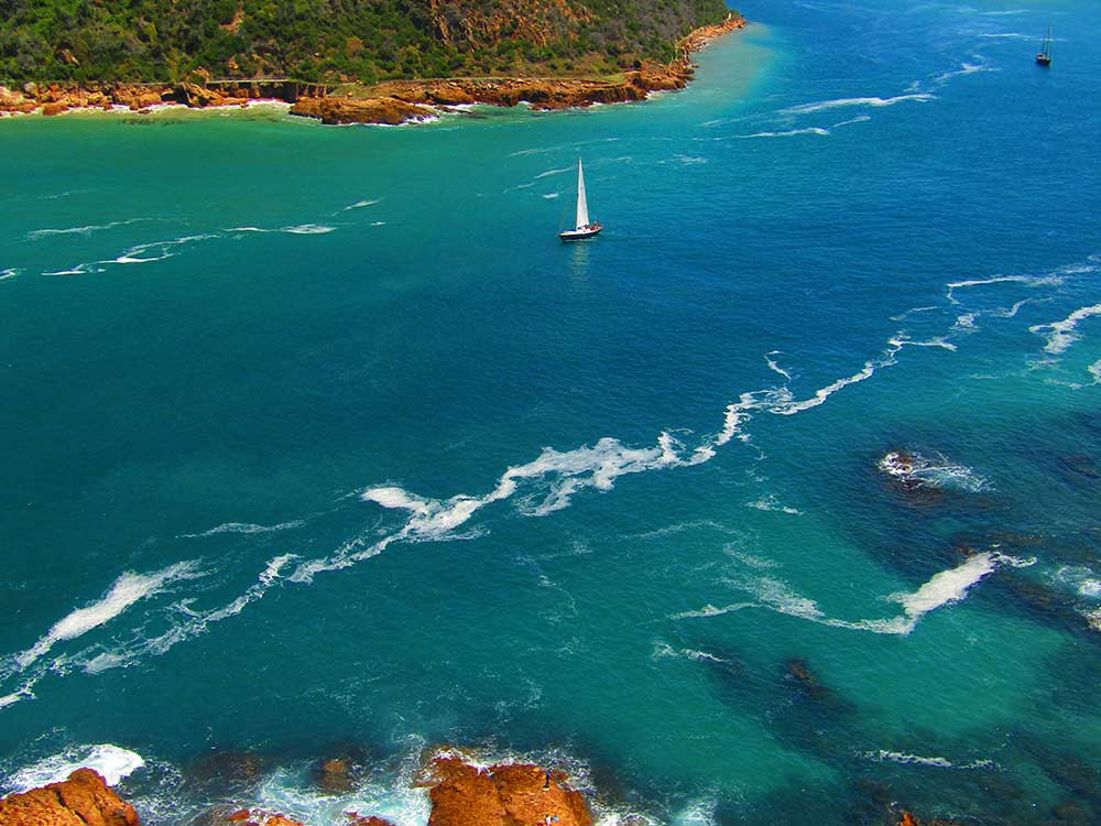 sailboat in garden-route south africa