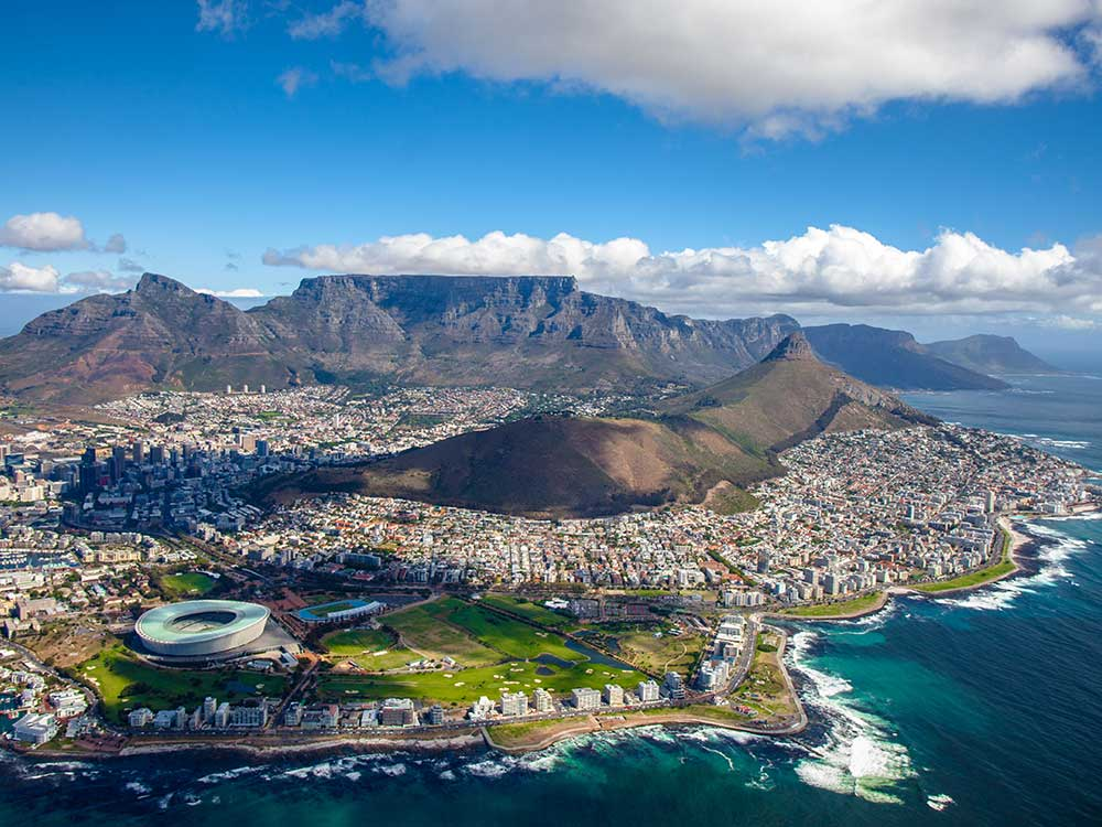 Cape Town aerial view South Africa